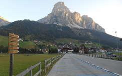 Sassongher hegye, az Olasz Alpokban