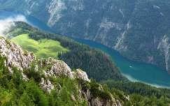 németország nyár hegy königssee folyó
