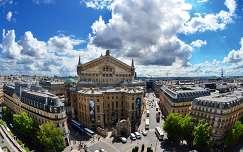 Kilátás a La Fayette áruház tetejéről (Opera), Párizs