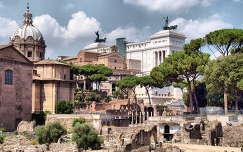 a Forum Romanum és a Victor Emanuel emlékmű,Róma,Olaszország