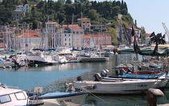 Piran kikötője, Szlovénia