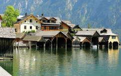 Csónakgarázsok Hallstattban- Ausztria, Salzburg tart.