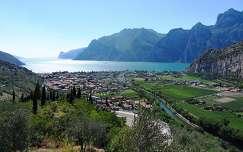 A Garda tó a Sarca folyó torkolatánál Torbole-nál