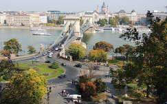 Kilátás a Budai várból ősszel,Budapest