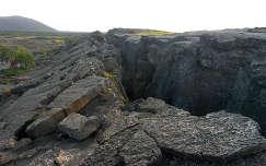 Lemeztektonikai törésvonal Izlandon
