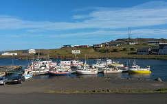 Kikötő a Keleti Fjordokban Izlandon