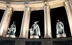 szobor budapest hősök tere éjszakai képek magyarország