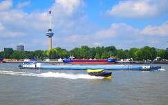 ROTTERDAM-HOLLAND, RIVER MAAS, EUROMAST, WATER-TAXI