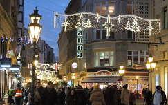 Budapest,Váci utca karácsonyi díszben
