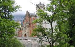 Neuschwanstein bejárati homlokzata,Németország