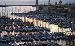 vitorlás francia riviéra kikötő monte carlo monaco napfelkelte