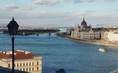Kék Duna a Margit szigettel,Budapest