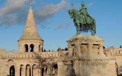 Szt.István szobra a Halászbástyával, Budapest