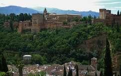 GRANADA - SPAIN, La Alhambra vista desde El Mirador de San Nicolas