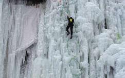 tél jégcsap jég téli sport