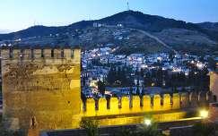 GRANADA-SPAIN, ALHAMBRA BY NIGHT