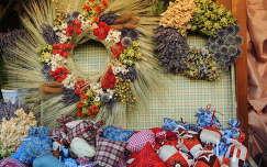 Levendulás szárazvirág kötészetű dekoráció és levendula zacskók
