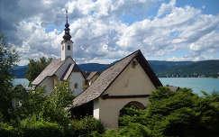 Maria-Wörth a Wörthi tó kis félszigetén fekvő zarándokhely, Ausztria