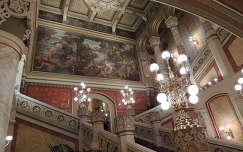 Vigadó felújított lépcsőháza,Budapest