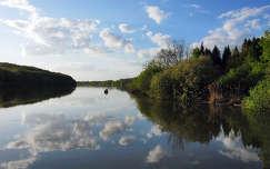 horgászat tükröződés folyó