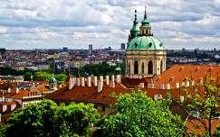 Kilátás a prágai várból a városra