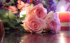 Rózsák a gyertyafényben