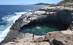 Görögország , Thassos , Giola lagúna