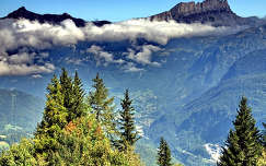 Mont Blanc, Franciaország (Európa legmagasabb hegye,  kb.4810 m magas)