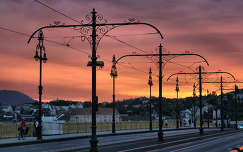 Margit híd naplementében