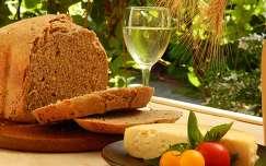 ital zöldség sajt paradicsom kenyér nyár étel