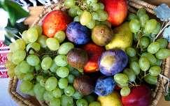 nyár szőlő gyümölcs gyümölcskosár