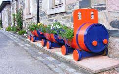 vonat virágcsokor és dekoráció