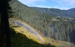 szivárvány a Krimmli-vízesésnél,Ausztria