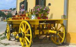 virágcsokor és dekoráció méz
