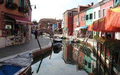 békés utca, Burano, Olaszország