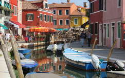 Buranoi utcakép, Olaszország