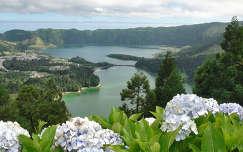 Jánosi Sándor: Azori-Szigetek, Kétszínű tó