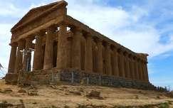 Konkordia temploma a Templomok völgyében. Szicília