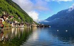 ausztria alpok hallstatt hegy tó