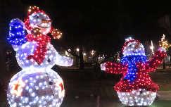 Karácsony, karácsonyi dekoráció, Szabadka, hóember