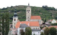 Ausztria,Wachau a Dunáról nézve
