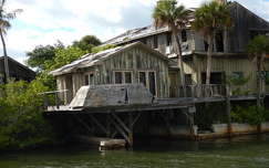 Abandoned House  at the end Dragon Point Dr Indian River Florida USA