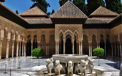 GRANADA-SPAIN, THE LION COURT OF THE ALHAMBRA