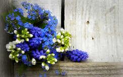 tavaszi virág fürtösgyöngyike nefelejcs tavasz virágcsokor és dekoráció
