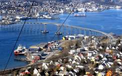 skandinávia híd kikötő norvégia