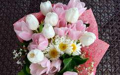 margaréta tulipán virágcsokor és dekoráció