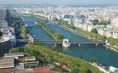Párizs, Szajna az Eiffel toronyból