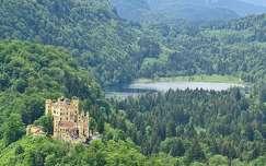 tavasz hohenschwangau várak és kastélyok alpok tó németország