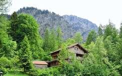 németország ház faház alpok
