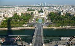 Párizs látképe az Eiffel toronyból